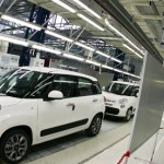 Fiat 500 L cars in the new FIAT factory in Kragujevac, Serbia, 16 April 2012