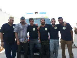 Alcuni membri dell'ultima missione Onsur. Amer Dachan è il terzo da destra