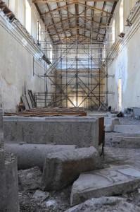 Ancona, reperti artistici dimenticati nel cadente Salone del Capitolo (ex Convento di San Francesco)