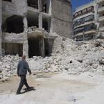 Aleppo, le rovine della scuola Ain Jalud (foto di Enea Discepoli)
