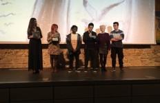 Immagine di una delle tante premiazioni a Corto Dorico Film Festival