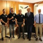 Nella foto in Rettorato ad Ancona, da sinistra: Adelmo De Santis, Mattia Silvestrini, Danny Pigini, Ennio Gambi, Sauro Longhi, Francesco Piazza, Lorenzo Incipini