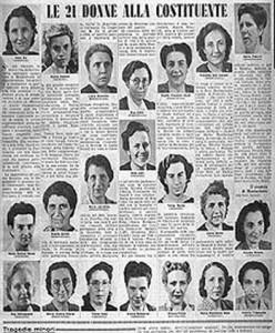 Le donne dell assemblea costituente fatto diritto for Elenco deputati italiani