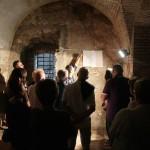 """Un momento della visita guidata a Forte Scrima del 22 agosto scorso, organizzata dal gruppo """"I 16 Forti di Ancona"""""""