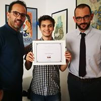 Andrea Bartolotta con l'Ing. D'Aria (membro del Consiglio Direttivo) e il Presidente Avv. Rossi