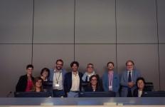 I partecipanti nell'aula di udienza dell'ICC con il Giudice Tarfusser