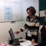Sara Rupoli, psicologa e psicoterapeuta, e le colleghe Martina D'Errico e Sara pedinelli nell'ufficio-sportello psicologico per studenti universitari presso il Centro Adolescenti all'ospedale di Torrette di Ancona.