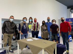 I membri fondatori del Parco Ciclistico del Conero. Da SX: Rossi, Scarponi, Gambi, Magnarini, Leonori, Balducci, Mazzieri, De Paolis